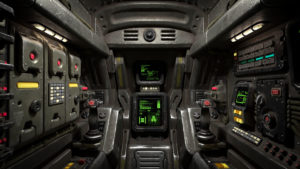 Cockpit of the Prespace Ship Jericho