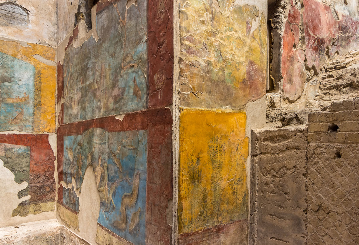 Wall of ancient Frescoes