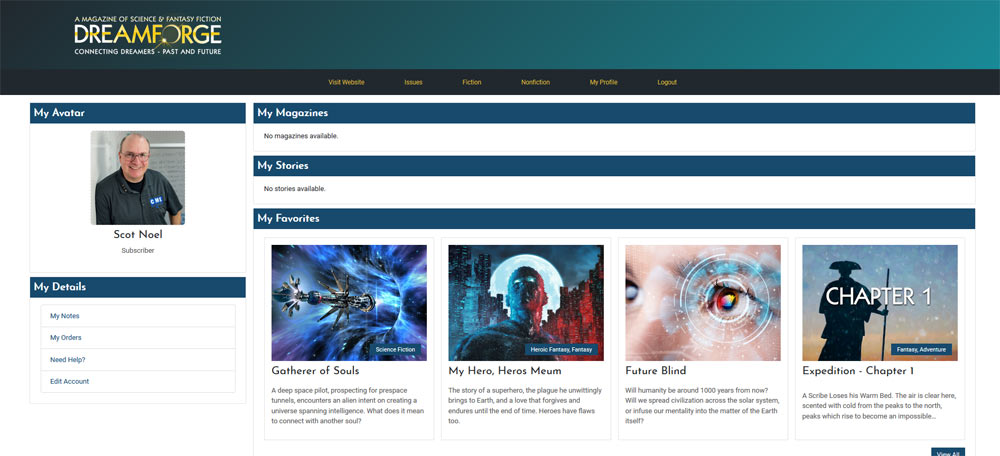DreamForge Subscriber Personal Profile